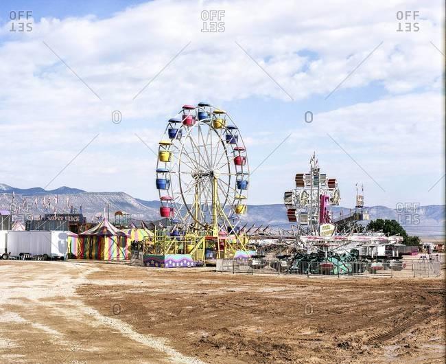 Empty small western fair in Utah, USA