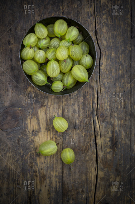 Gooseberries in a jug