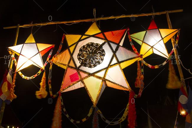 Lanterns in the evening