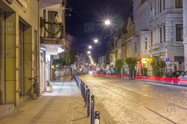 Street view in nightclub district of Bremen
