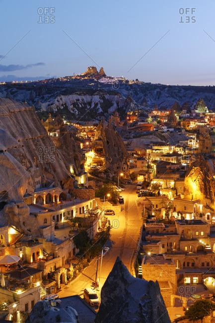 Uchisar in the background, Cappadocia, Turkey
