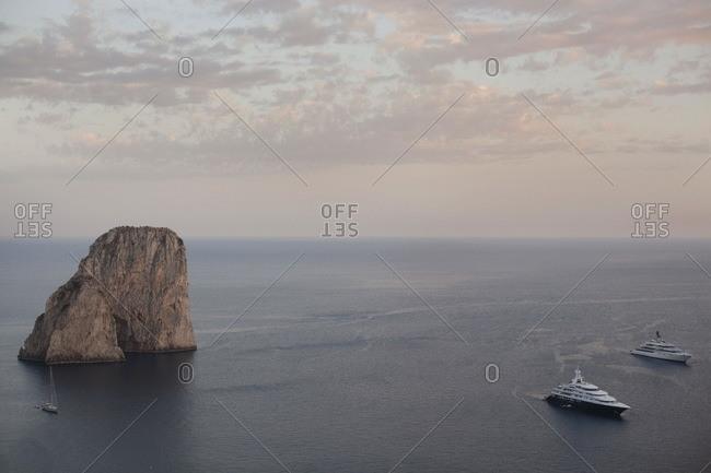 Faraglioni, seen from southern coast of Capri