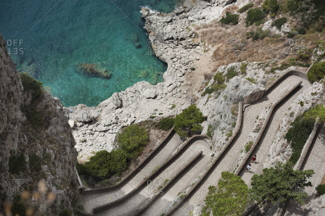 High angle view from August's Garden, Capri
