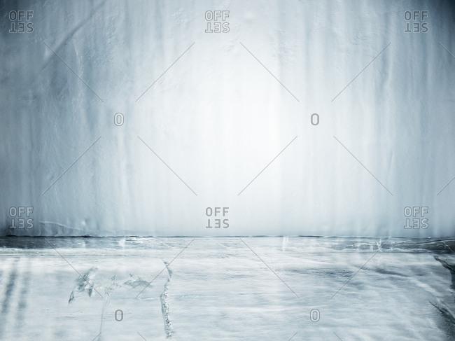 Close up of an ice block