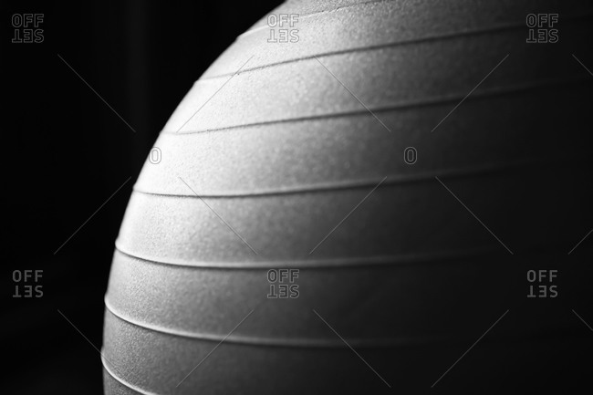 Close-up of exercise ball