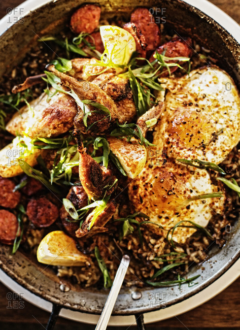 Whole roasted chicken with lemon and tarragon