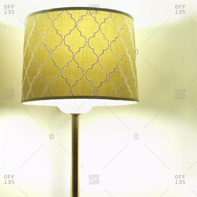 Illuminated classical yellow lamp