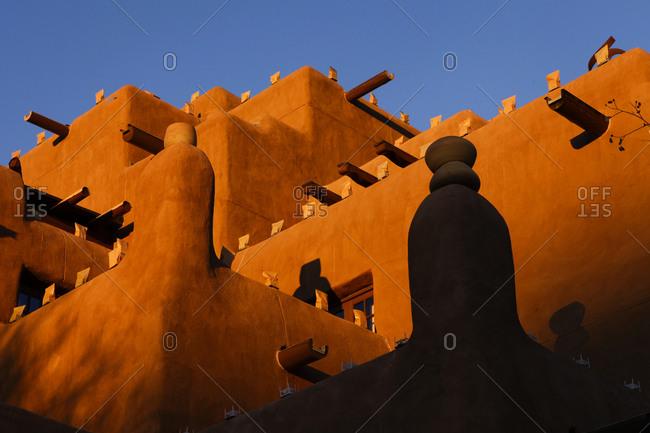 Adobe building in Santa Fe, New Mexico