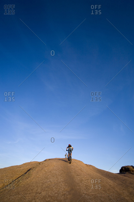 Mountain biker Moab Utah