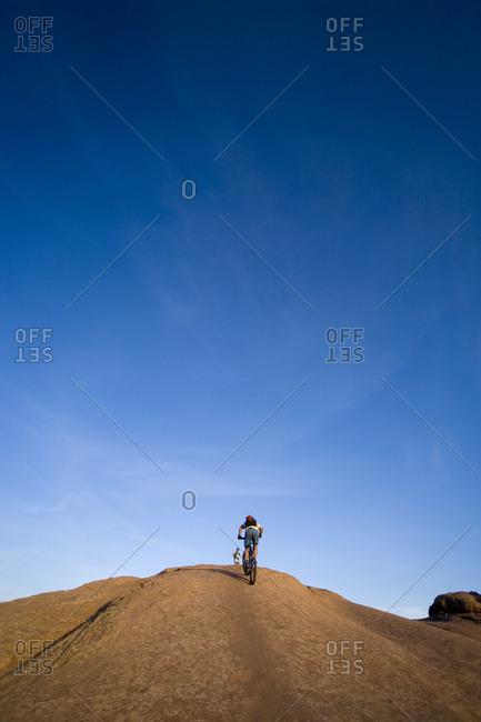 Mountain biker Moab Utah