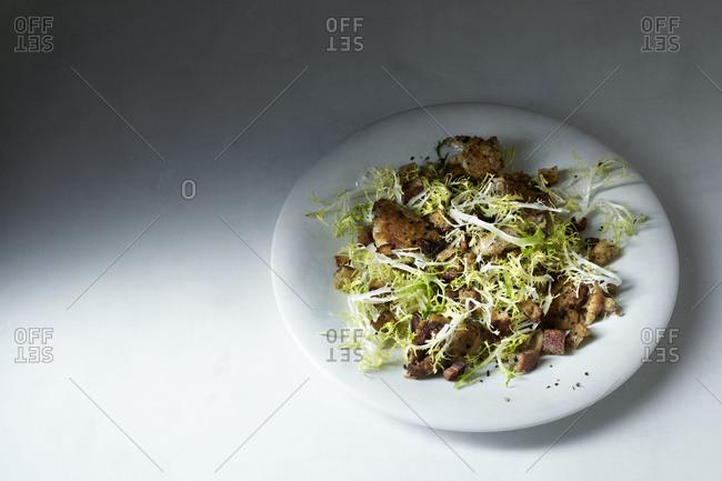 Chicken cannabis frisee salad