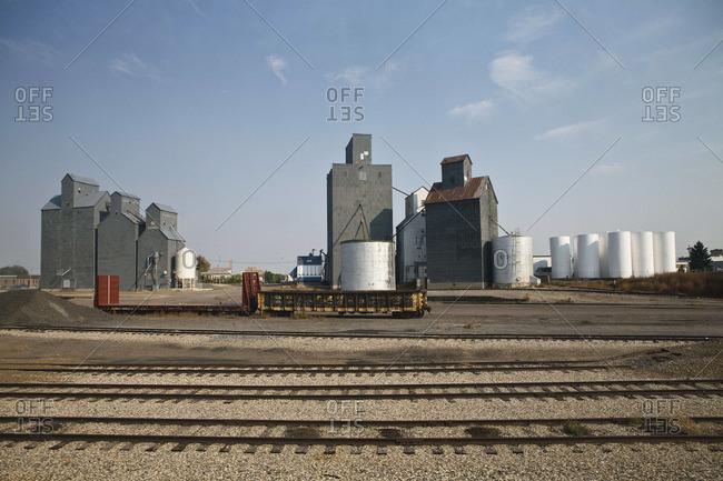Grain elevators in North Dakota
