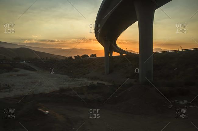 Freeway in California, USA - Offset