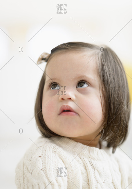 down syndrome baby stock photos - OFFSET
