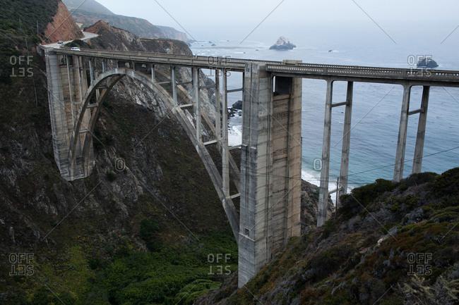 Bixby Bridge at Big Sur in California, USA