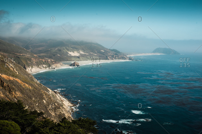 View of a coast at Big Sur in California, USA