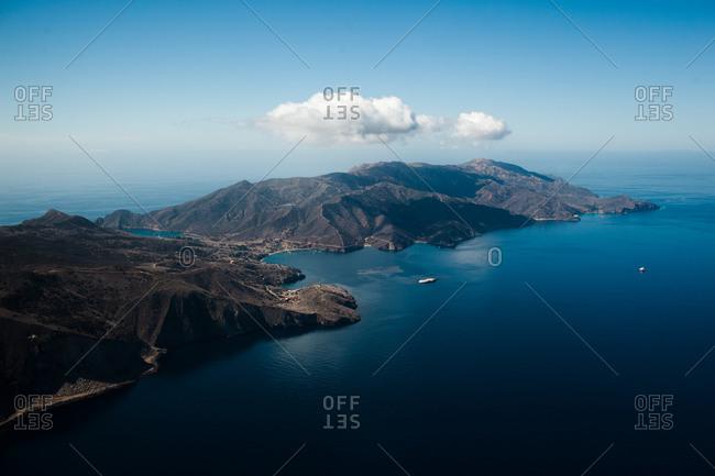 View of Catalina Island in California, USA