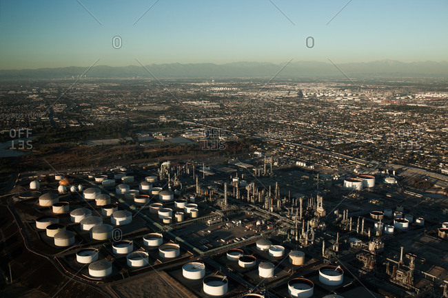 Cityscape of Long Beach in California, USA