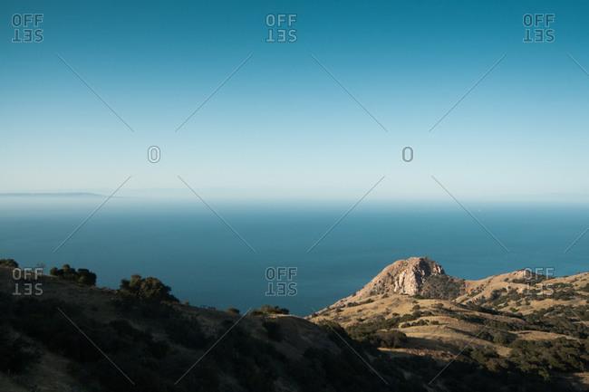 Coast of Catalina Island in California, USA