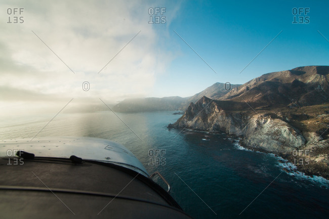 View from a cockpit at Catalina Island in California, USA