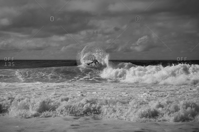 Man surfing in Soorts-Hossegor, France