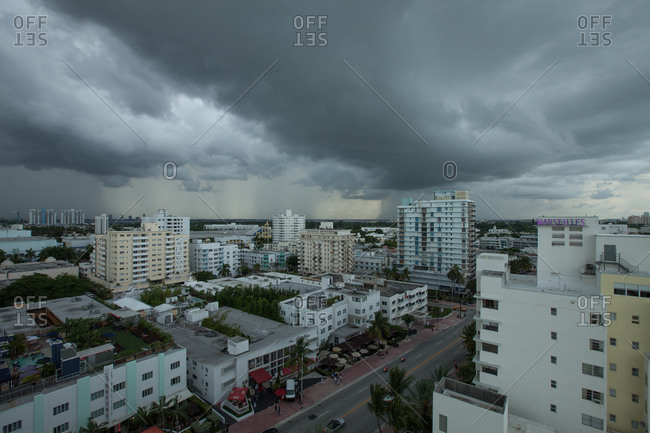 Thunderstorm in Miami, Florida