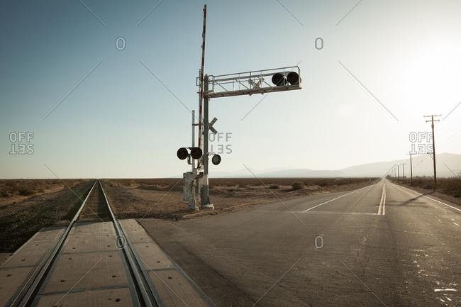 Railway in the Mojave Desert, California