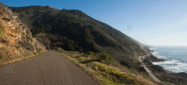 Route on Pacific coastline