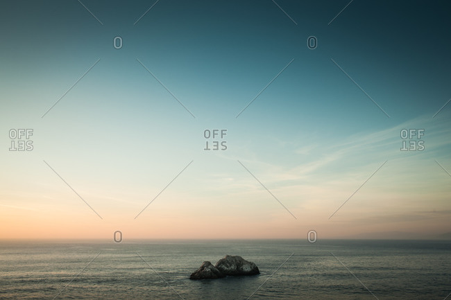 View of Pacific Ocean from Sutro Bath, California, USA