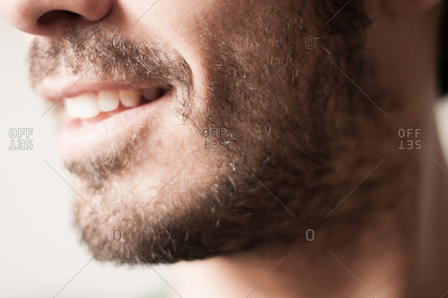 Close up of a profile of a man