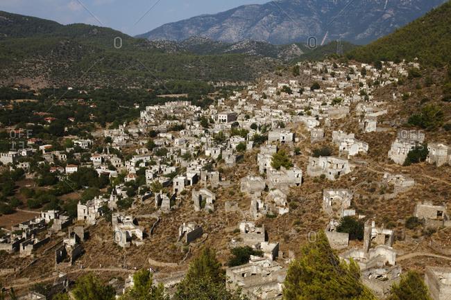 The abandoned Greek village of Kayakoy, near Fethiye, Turkey.
