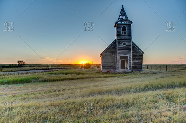 Abandoned Rocky Valley Lutheran Church, Dooley, Sheridan County, Montana