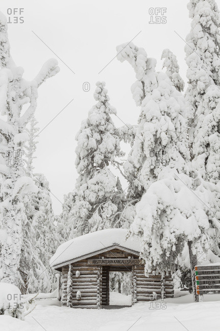 The entrance to Riisitunturi National Park, Finland