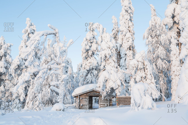 The entrance to Riisitunturi National Park in Lapland, Finland