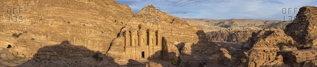 Panorama of the Monastery, Petra, Jordan