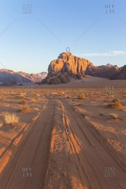 View of the Mountains of Wadi Rum, Jordan