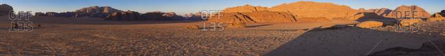 Sunset, Wadi Rum desert, Jordan