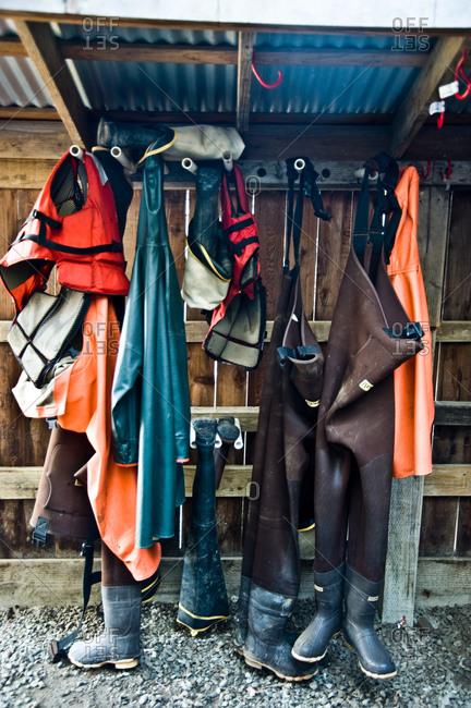 Rubberized gear of fishermen