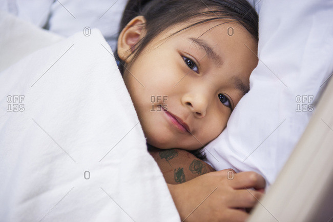 Pediatric patient in hospital waiting for surgery, Utah, USA