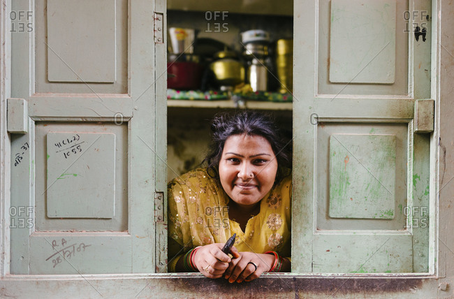 Jodhpur, India - January 31, 2013: Portrait of an Indian woman