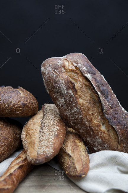 Still life of baguettes