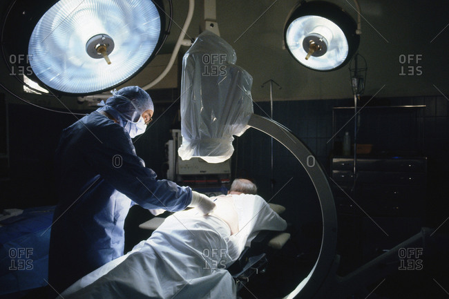 Surgeon performing orthopaedic surgery