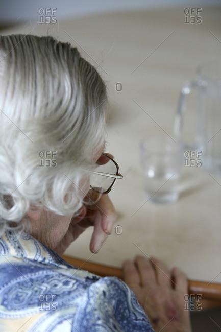 An elderly patient affected by Alzheimer's disease.