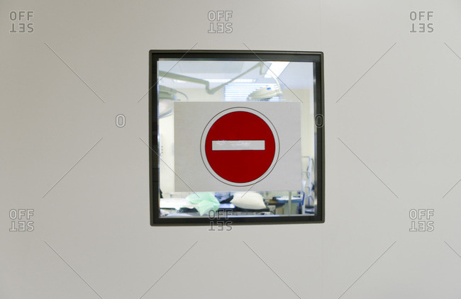Hospital prohibited sign - Offset Collection