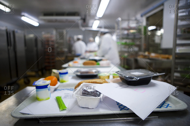 Preparation of meal trays for patients