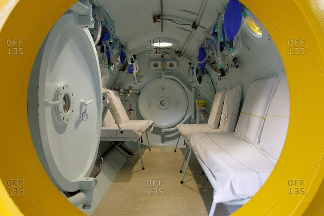 View of a hyperbaric chamber