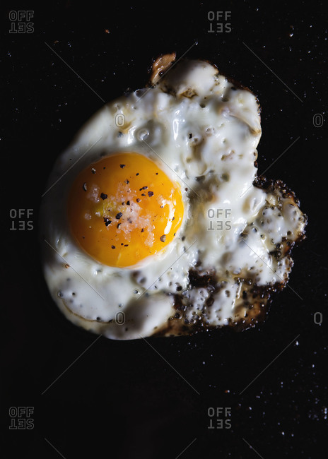 Close up of a fried egg