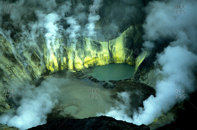 Bromo volcano crater on Java.