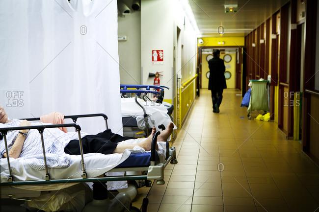 A&E department in a hospital.