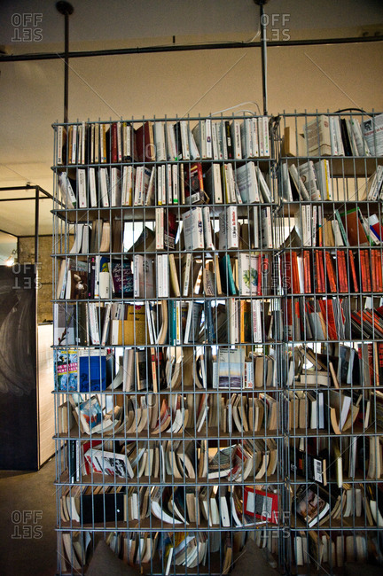 View of a shelf full of books